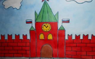 Достопримечательности москвы рисунки карандашом