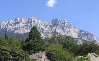 Горы вокруг ялты