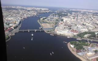 Место расположения санкт петербурга