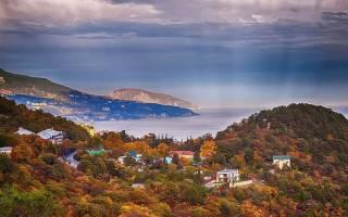 Красивые места в крыму осенью