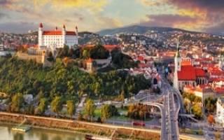 Город Братислава и его главные достопримечательности с описанием и фото